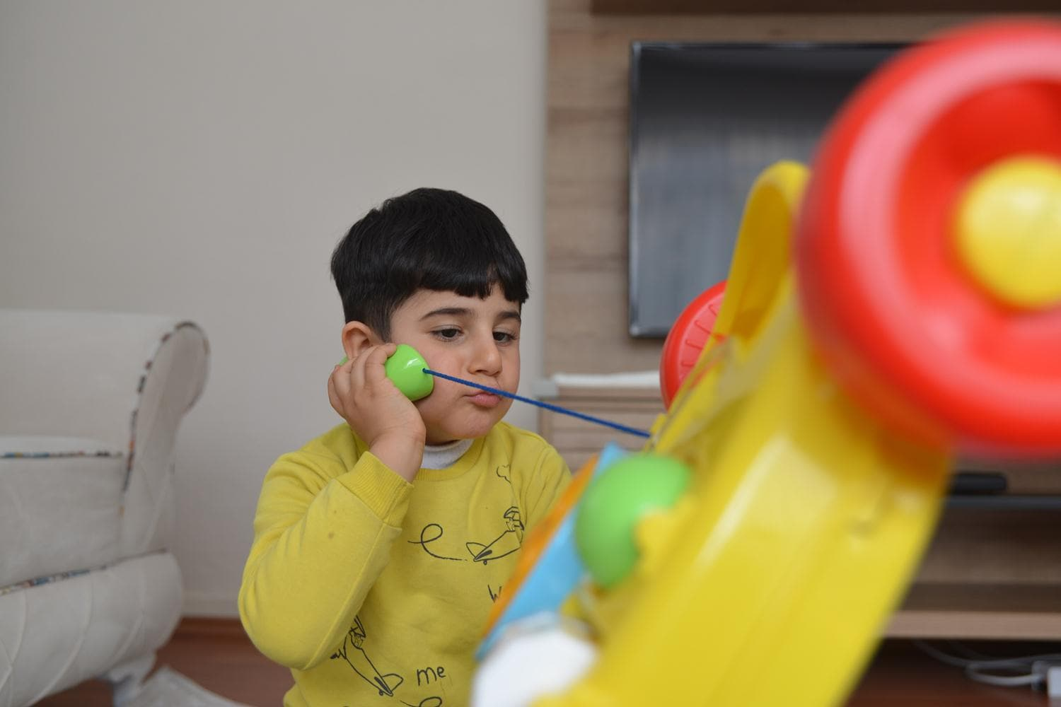 NCL patient Ahmet in Ankara for treatment
